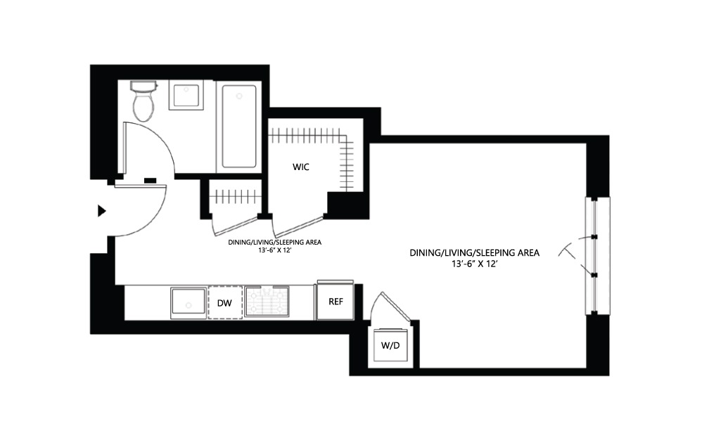 S10 Studio 1 424 square feet