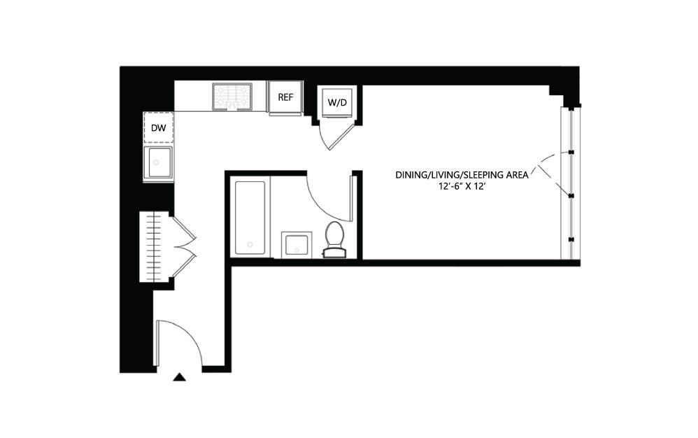 S11 Studio 1 444 square feet