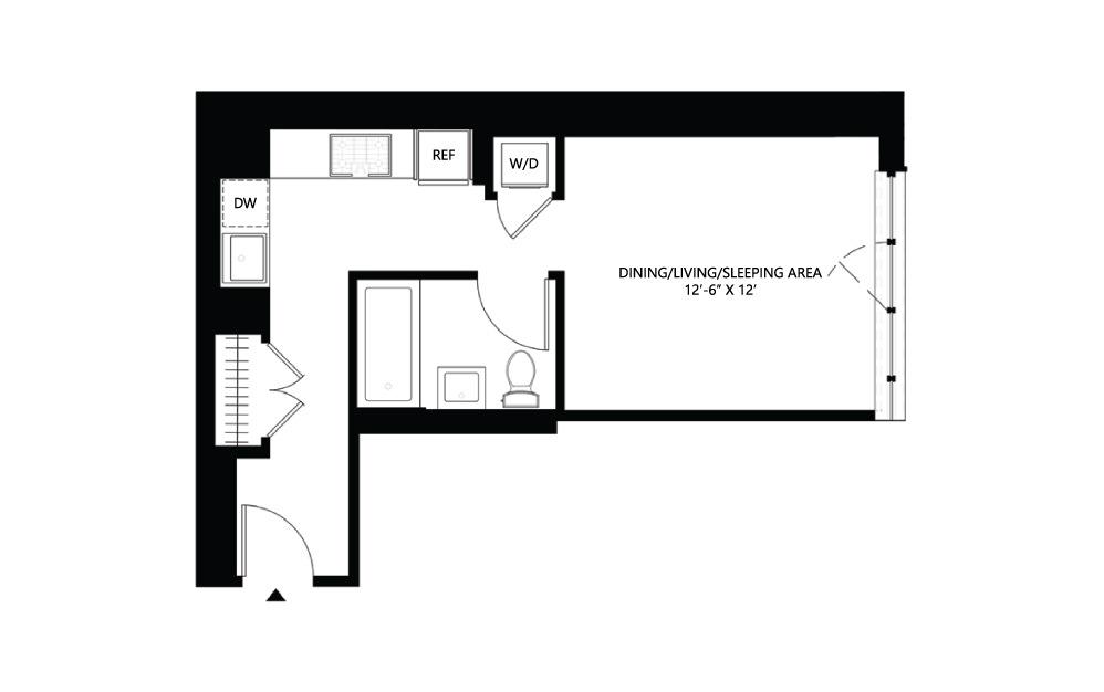 S12 Studio 1 454 square feet