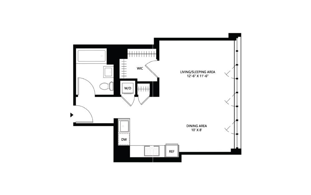 S17 Studio 1 540 square feet