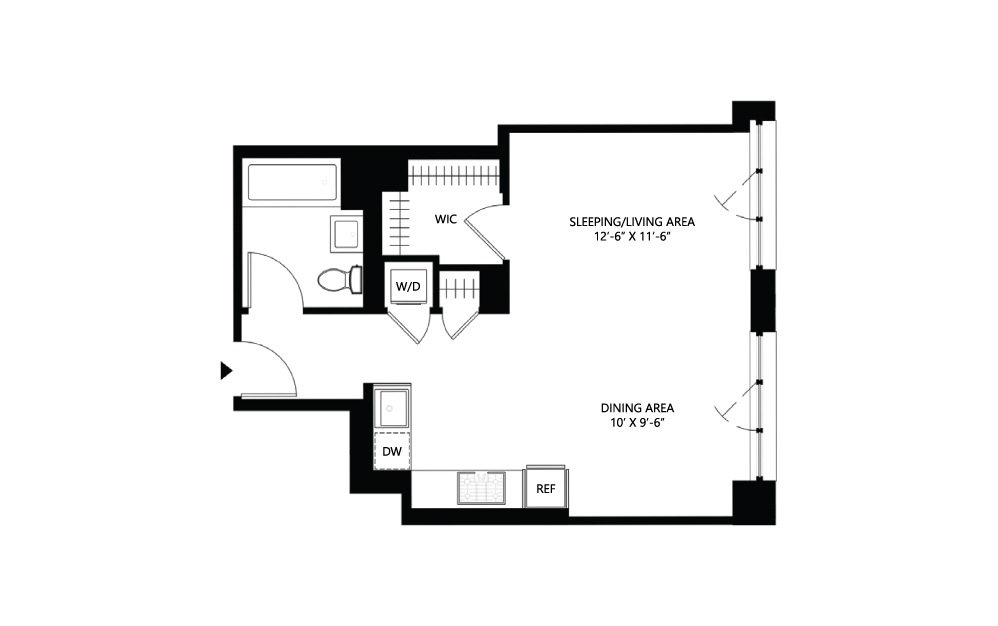 S18 Studio 1 561 square feet