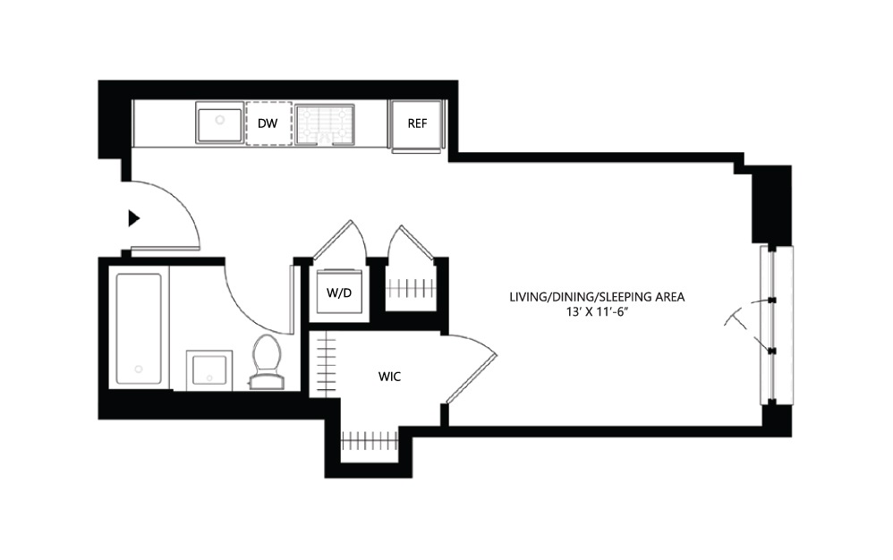 S38 Studio 1 408 square feet