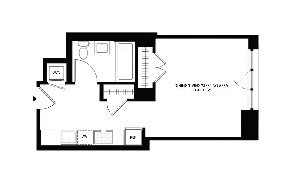 S7 Studio 1 408 square feet